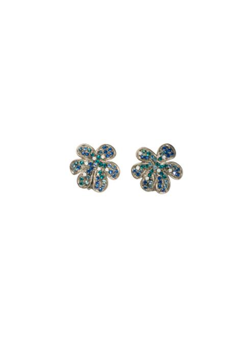 Sorrelli Electric Blue-Retro Flower Clip Earrings~ ECG15CASEB