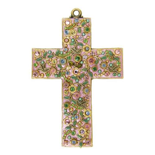 Michal Golan Pastel Garden Wall Cross~CR7
