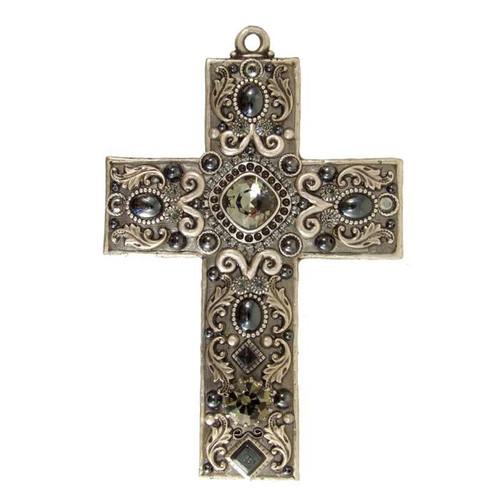 Michal Golan Hematite Wall Cross~CR6
