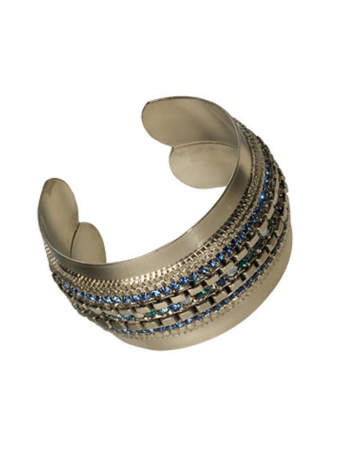 Sorrelli Electric Blue-Chic Crystal Cuff Bracelet~ BDB8ASEB