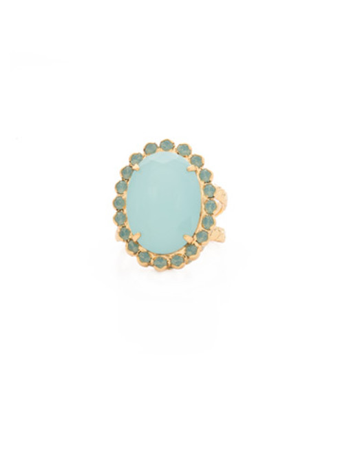 Sorrelli~ Pacific Opal-Glamorous Oval-Cut Cocktail Ring~ RBT68BGPAC