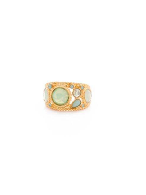 Sorrelli~ Pacific Opal- Stellar Crystal Moon Ring~ RBY2BGPAC