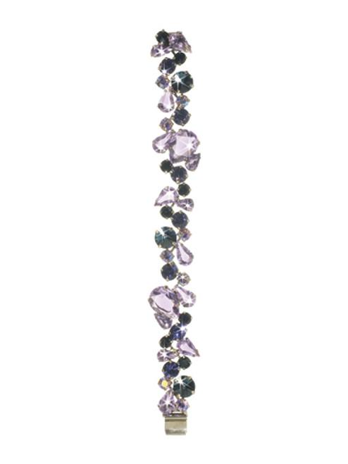 Sorrelli HYDRANGEA-Teardrop Crystal Cluster Line Bracelet~ BCP3ASHY