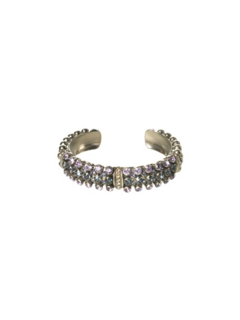 Sorrelli HYDRANGEA-Wistful Wrist Cuff Bracelet~ BCN200ASHY