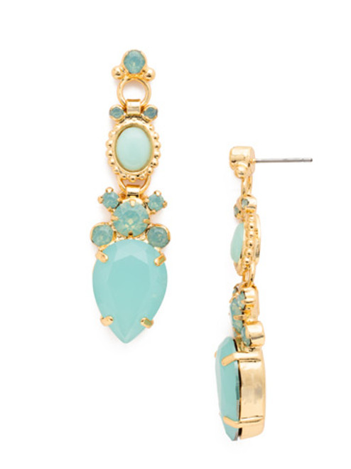 Sorrelli- Pacific Opal- Gilded Glamour Statement Earrings~ EDE62BGPAC