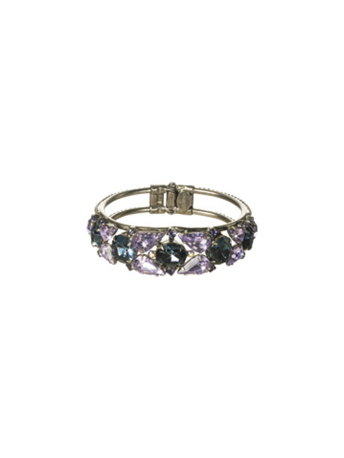 Sorrelli HYDRANGEA-Crystal Cluster Hinge Cuff Bracelet~ BCP5ASHY