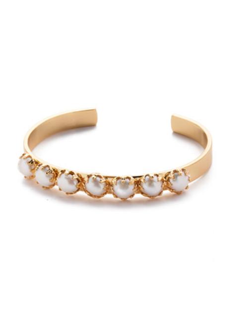 Sorrelli Modern Pearl Citron Cuff Bracelet~ 4BES1BGMDP
