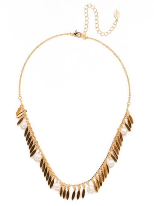 Sorrelli Modern Pearl Twyla Tennis Necklace~4NES8BGMDP
