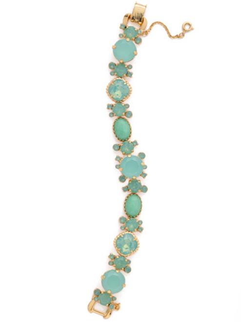 Sorrelli- Pacific Opal-Multi Cut Crystal and Semi-Precious Line Bracelet~ BDE1BGPAC