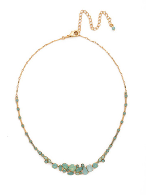 Sorrelli- Pacific Opal-Simply Elegant Crystal Cluster Necklace~ NCF26BGPAC