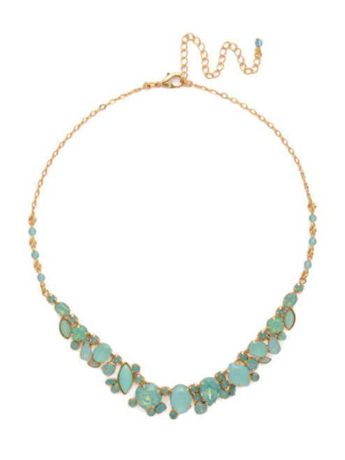 Sorrelli- Pacific Opal-Multi Cut Crystal Necklace~ NCF26BGPAC
