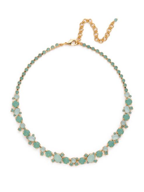 Sorrelli- Pacific Opal-Glittering Multi-Cut Crystal Necklace~ NCF6BGPAC