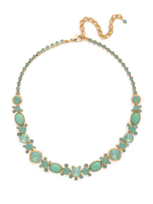 Sorrelli- Pacific Opal-Multi-Cut Crystal and Semi Precious Line Necklace~ NDE1BGPAC