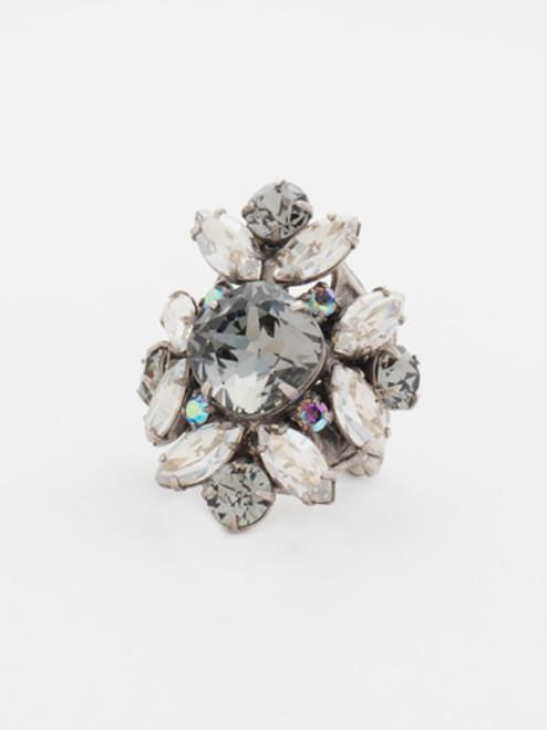 Sorrelli- CUPCAKE- Floral Crystal Cluster Cocktail Ring~ RCR62ASCUP