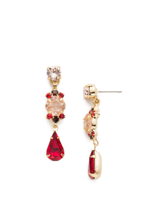 Sorrelli Warm Neutral Saffron Crystal Dangle Earrings~ EDS1BGWNE