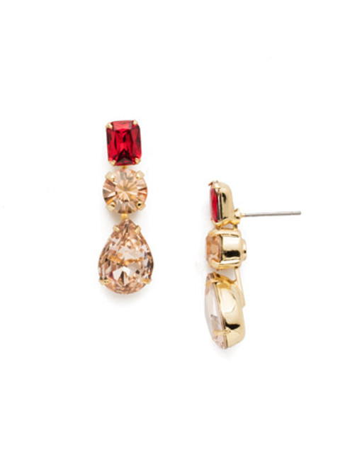 **MADE TO ORDER** Sorrelli Warm Neutral Polished Pear Crystal Dangle Earrings~ EDN74BGWNE