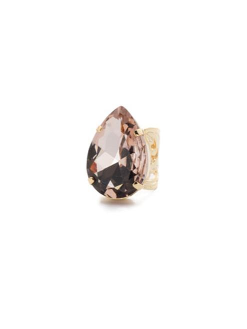 Sorrelli Warm Neutral Teardrop Crystal Cocktail Ring~ RCM25BGWNE