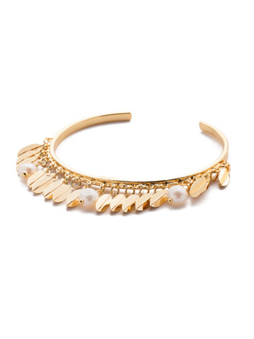 Sorrelli Modern Pearl- Twyla Cuff Bracelet~ 4BES8BGMDP