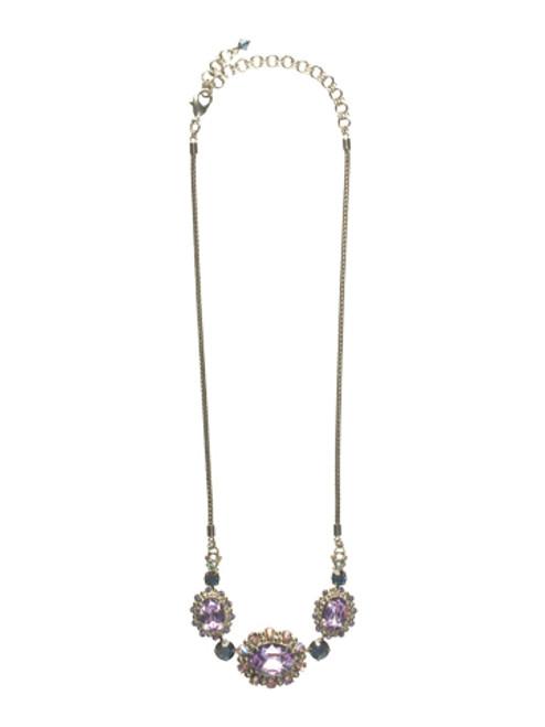 Sorrelli HYDRANGEA-Grand Canna Necklace~ NCK11ASHY