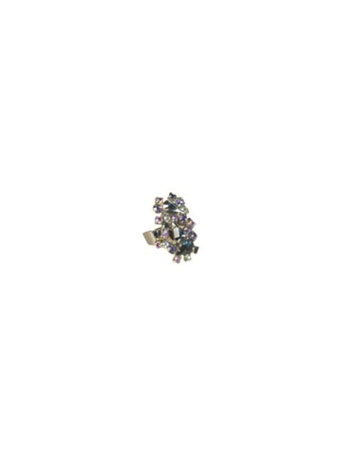 Sorrelli HYDRANGEA -Dazzling Digits Crystal Ring~ RCP8ASHY