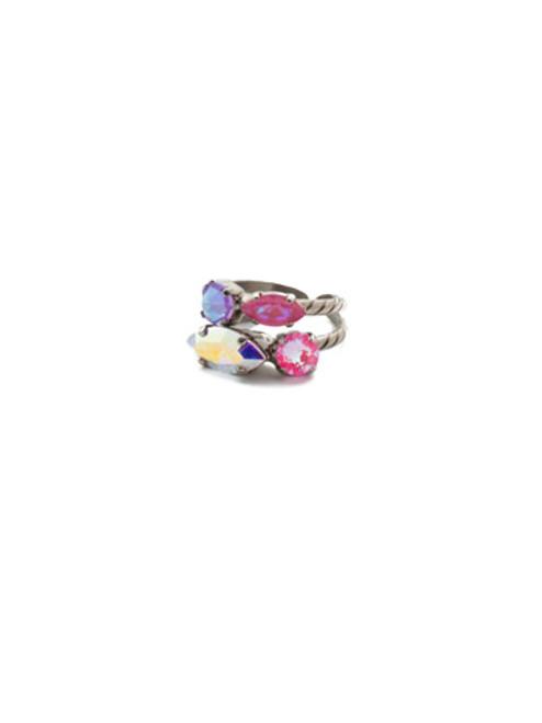 Sorrelli Electric Pink -Mayzel Stacked Ring~ RET1ASETP