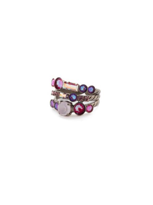 Sorrelli Electric Pink -Triple Threat Stacked Ring~ RDK23ASETP