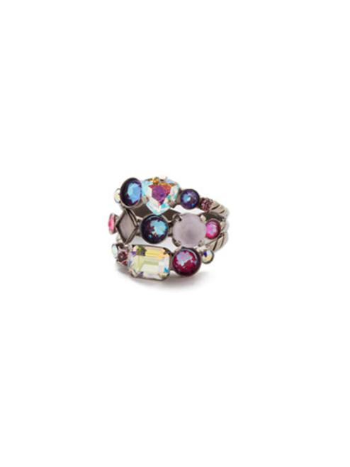 Sorrelli Electric Pink -Sedge Stacked Ring~ RDX1ASETP