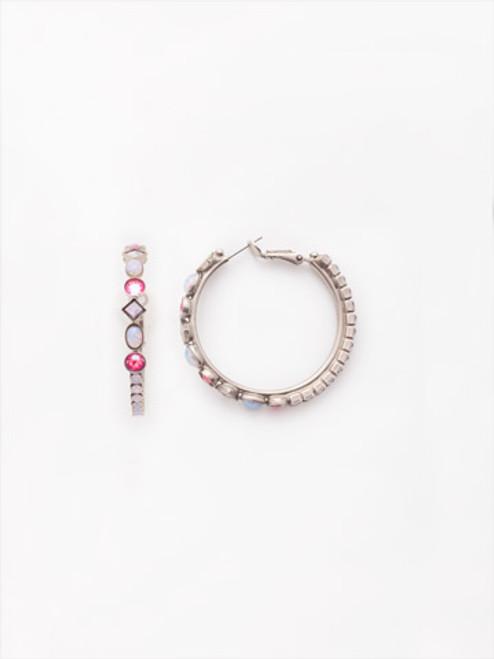 Sorrelli Electric Pink - Sicily Hoop Earrings~ EEA23ASETP
