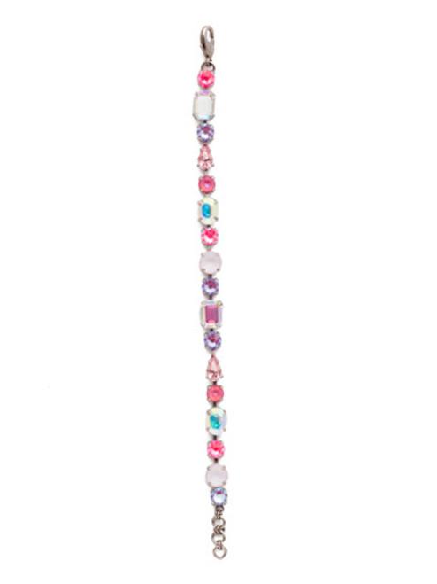 Sorrelli Electric Pink - Clover Tennis Bracelet~ BDQ13ASETP