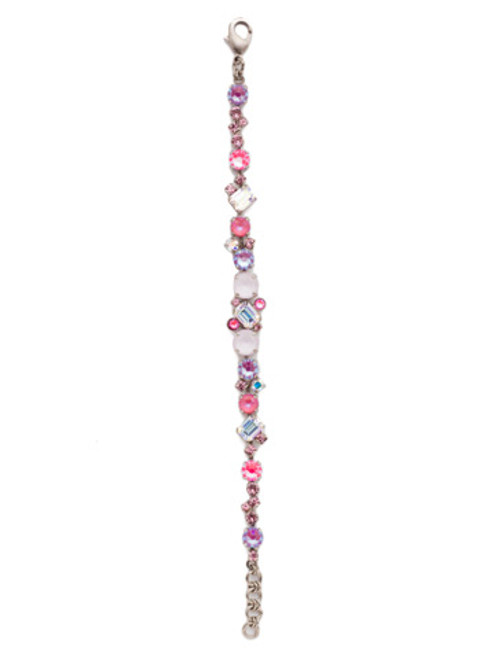 Sorrelli Electric Pink - Geo Classic Tennis Bracelet~ BDG46ASETP