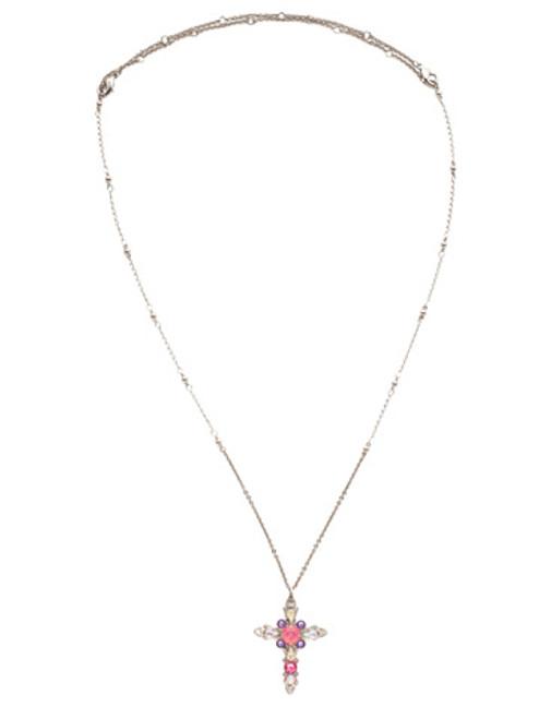 Sorrelli Electric Pink - Elowen Pendant Necklace~ NDS3ASETP