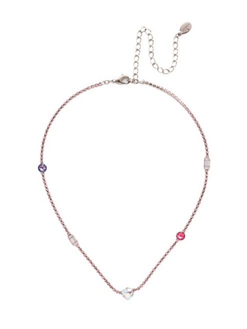 Sorrelli Electric Pink - Ophelia Tennis Necklace~ NEP9ASETP