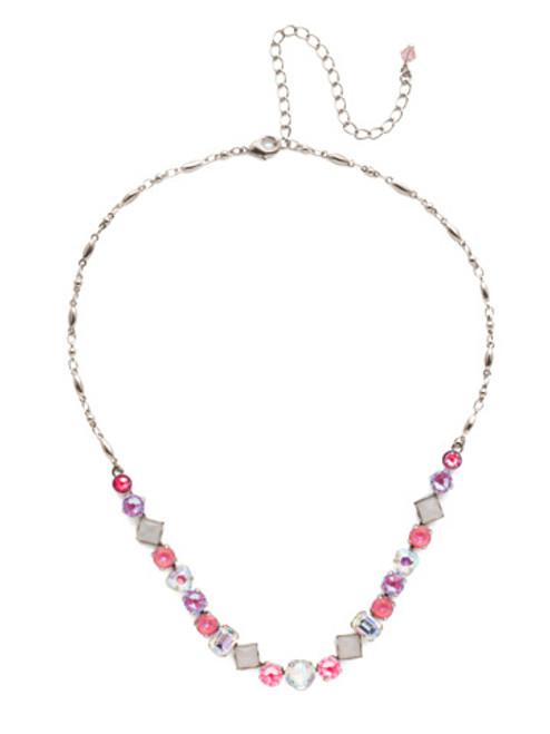 Sorrelli Electric Pink - Papaver Tennis Necklace~ NET3ASETP