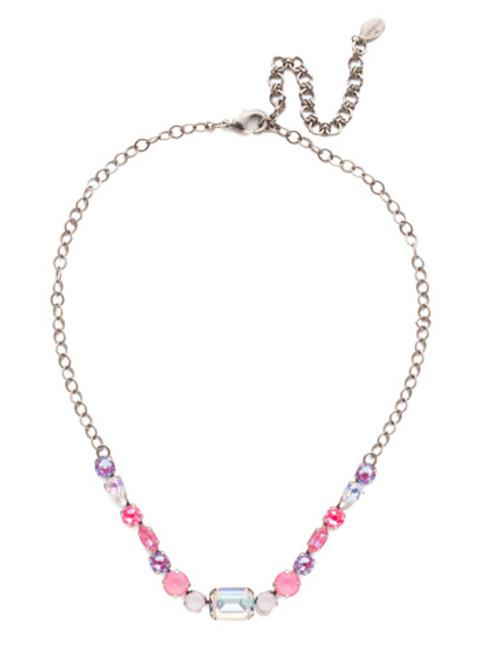 Sorrelli Electric Pink - Martina Tennis Necklace~ NET6ASETP