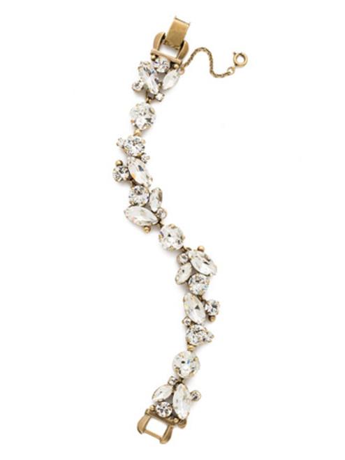Sorrelli Crystal-Radiant Vine Tennis Bracelet~ BDN51AGCRY