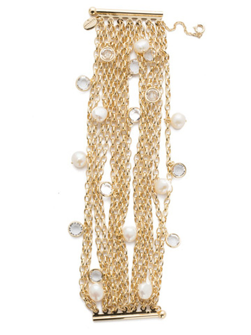 Sorrelli Modern Pearl- Oceane Layered Bracelet~ 4BEF3BGMDP