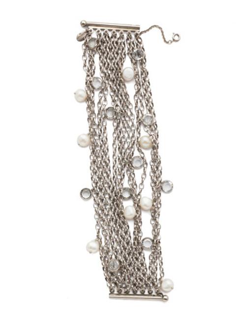 Sorrelli Crystal Rock- Oceane Layered Bracelet~ 4BEF3ASCRO