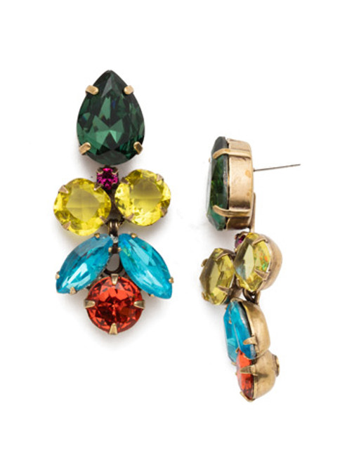 SORRELLI BRIGHT MULTI CRYSTAL EARRINGS ~ECR1AGBML