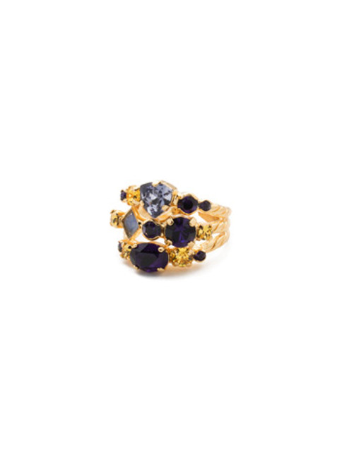 Sorrelli Love Purple- Sedge Stacked Ring~ RDX1BGLPU