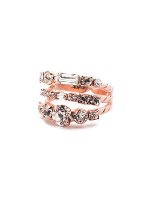 Sorrelli Crystal- Triple Threat Ring~ RDK23RGCRY