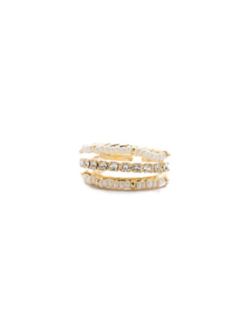 Sorrelli Modern Pearl- Aires Stacked Ring~ 4REF2BGMDP