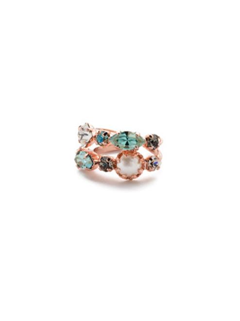 Sorrelli Crystal Azure -Oaklyn Stacked Ring~ REP1RGCAZ