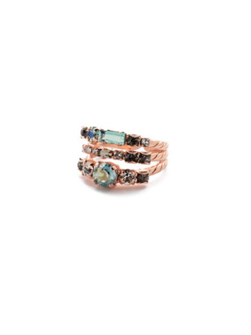 Sorrelli Crystal Azure -Triple Threat Stacked Ring~ RDK23RGCAZ