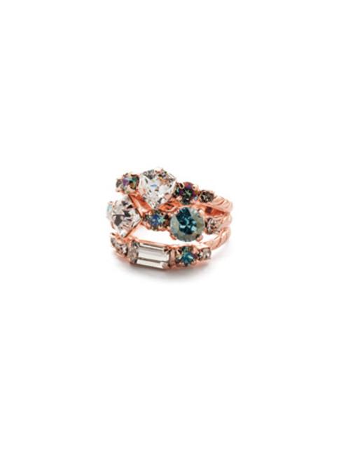 Sorrelli Crystal Azure -Sedge Stacked Ring~ RDX1RGCAZ