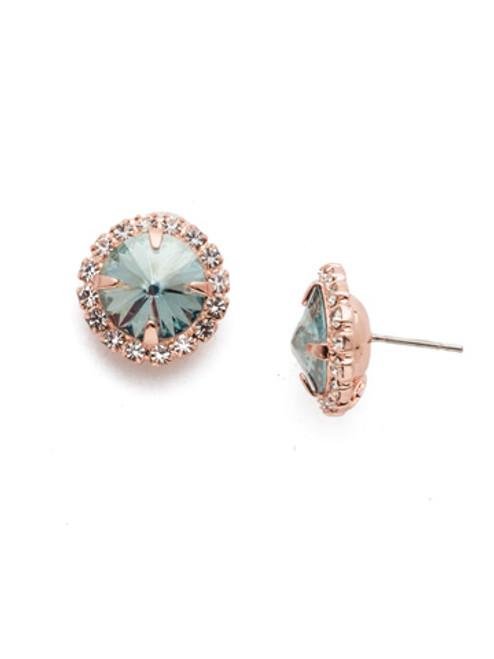Sorrelli Crystal Azure -Haute Halo Stud Earrings~ ECX98RGCAZ