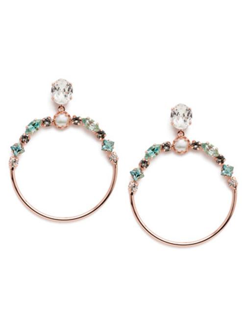 Sorrelli Crystal Azure -Blake Hoop Earrings~ EEP25RGCAZ
