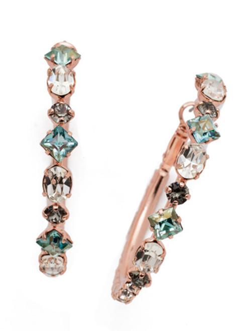 Sorrelli Crystal Azure - Sicily Hoop Earrings~ EEA23RGCAZ