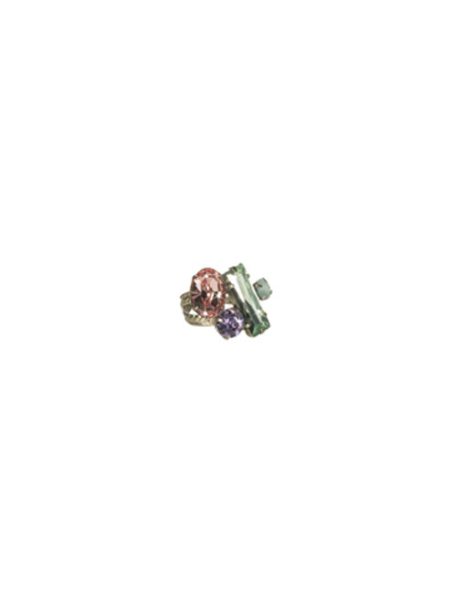 Sorrelli CUPCAKE-Abstract Cluster Ring~ RCF54ASCUP