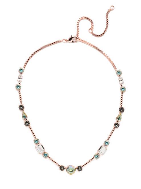 Sorrelli Crystal Azure - Poppy Tennis Necklace~ NEN18RGCAZ
