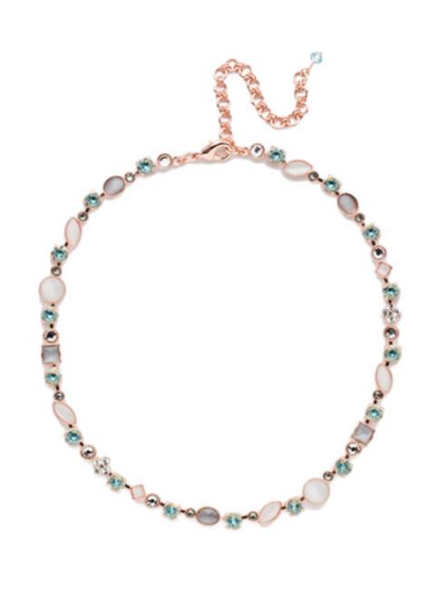 Sorrelli Crystal Azure - Classic Tee-Shirt Tennis Necklace~ NAQ3RGCAZ